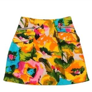 Nanette Lepore Floral Multicolor Pattern Skirt
